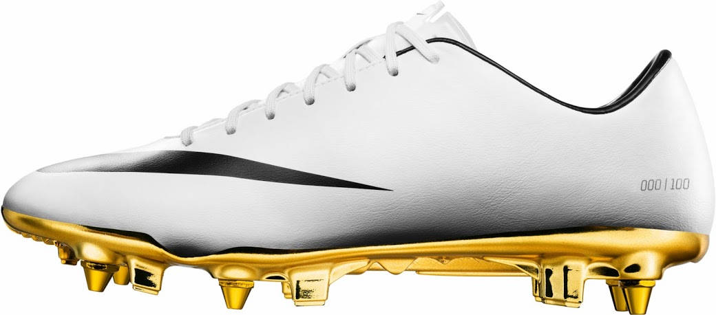 0b45a52060bc While Nike unveiled a special white   gold Cristiano Ronaldo 2014 Ballon  d Or boot in March 2014